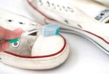 beyaz spor ayakkabı temizleme