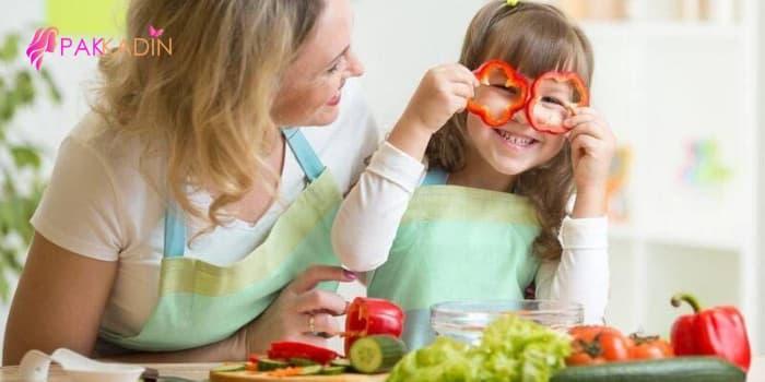 mutfak ve çocuk